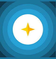 Isolated asterisk flat icon star element vector