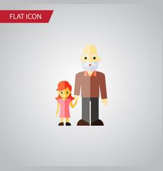 Isolated grandchild flat icon grandpa vector