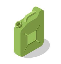 isolated green canister isometric automobile vector image