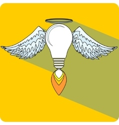 Light Bulb and Wings vector