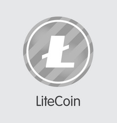 lite coin - icon of virtual currency vector image
