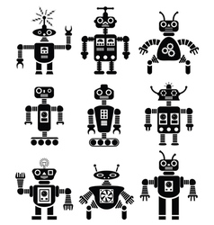 mechanical robots vector image