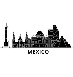 Mexico architecture city skyline travel vector