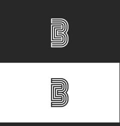 modern initials cb logo creative monogram minimal vector image