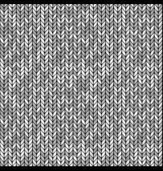 Monochrome knitted seamless background pattern vector
