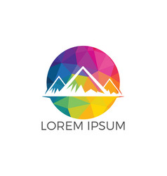 mountain landscape logo design vector image