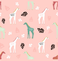 Pattern with giraffes vector