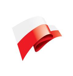 poland flag on a white vector image