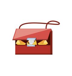 Post bag handle icon vector