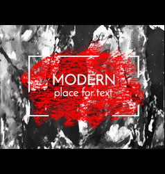red chalk paint ink brush stroke brush vector image