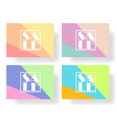 set colorful banners flyers posters for sale vector image