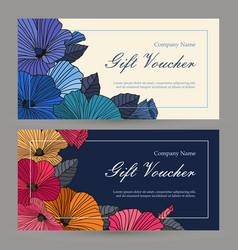 Set floristic gift elements corporate vector