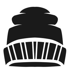 ski winter beanie icon simple style vector image