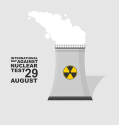 Smoking nuclear power plant vector