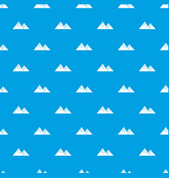 Swiss alps pattern seamless blue vector
