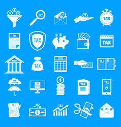 Taxes icons set simple style vector