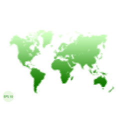 triangle world map green big map vector image