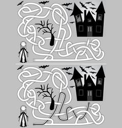 Vampire maze vector