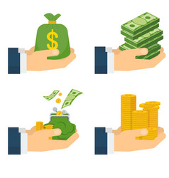 various kind of money vector image