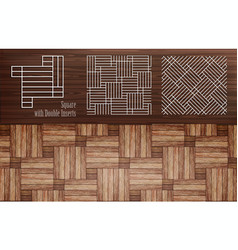vnn laminate square with double inserts vector image