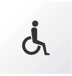 wheelchair icon symbol premium quality isolated vector image