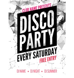 Night Dance disco Party design template in vector image vector image