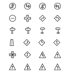 Road Outline Icons 2 vector image