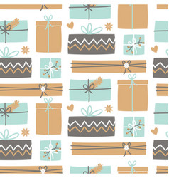 Christmas Presents Pattern vector image vector image