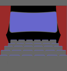 Cinema facilities and chairs movie house picture vector