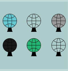globe or sphere different colour icon vector image