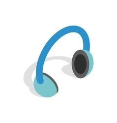 Headphones icon isometric 3d style vector image