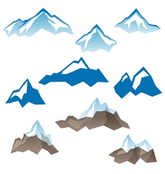 Mountains icons vector
