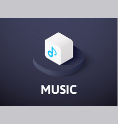 music isometric icon isolated on color background vector image