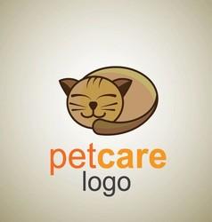 pet care logo 9 vector image