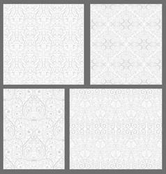 set of damask seamless pattern vector image