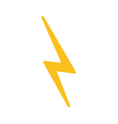 thunder icon image vector image