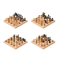 chess set isometric view vector image vector image