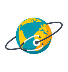 Global health icon vector