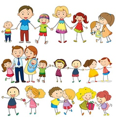 Happy and loving family vector image