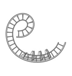 roller coaster for children and adults dead loops vector image