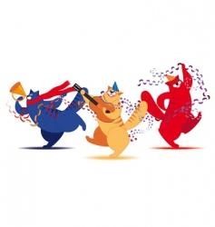 three cat musician vector image