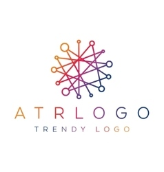 trending gradient logo in one line abstract lines vector image vector image