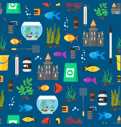 aquarium seamless pattern background vector image vector image