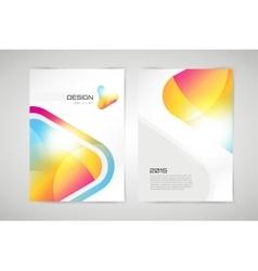 brochure template Abstract arrow design vector image