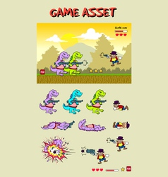 Dinosaur Attack Game Asset vector image vector image