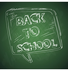 Education back to school chalkboard social bubble vector image vector image