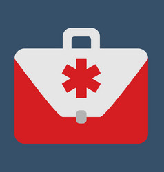 medical bag object flat icon vector image