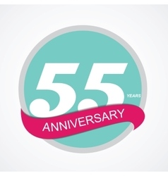 Template Logo 55 Anniversary vector image vector image