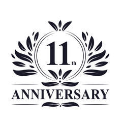 11th anniversary logo 11 years celebration vector
