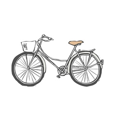 A bicycle is parked vector image